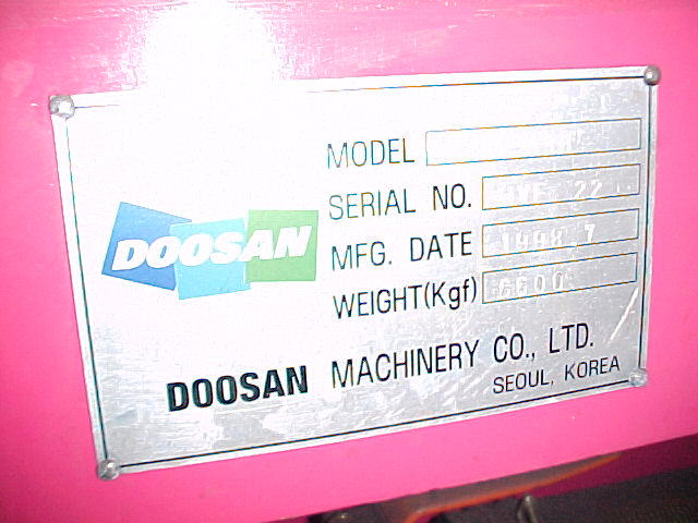 Doosan VM 43H, Machine ID: 1969