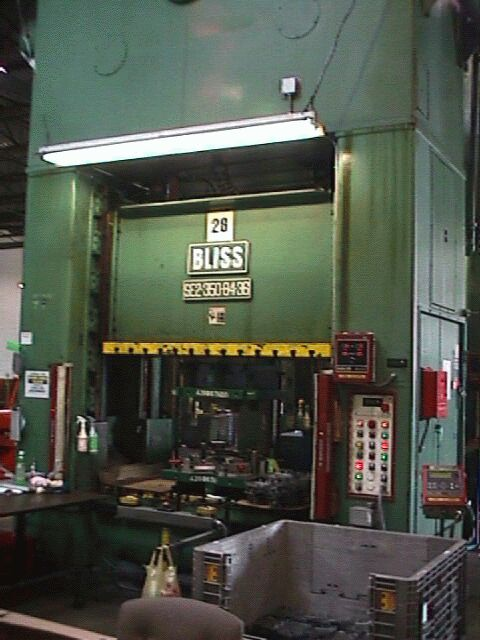 Bliss 350 Tons, Machine ID: 4108