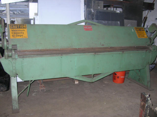Chicago 8 feet x 12 Gauge Hand Brake, Machine ID: 4539