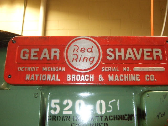 National Broach Red Ring Gear Shaver, Machine:4734, image:7