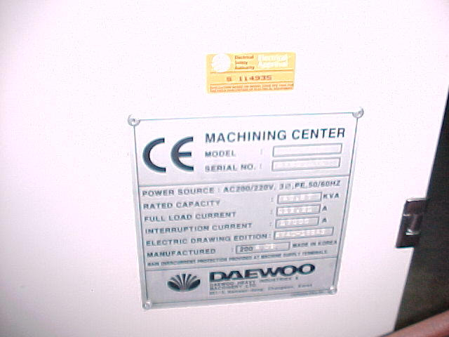 Daewoo DVC 400, Machine ID: 4763