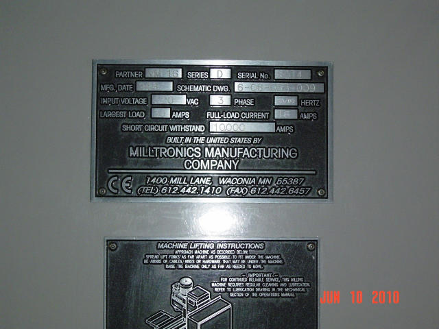 Milltronics Partner VM16, Machine ID: 5262