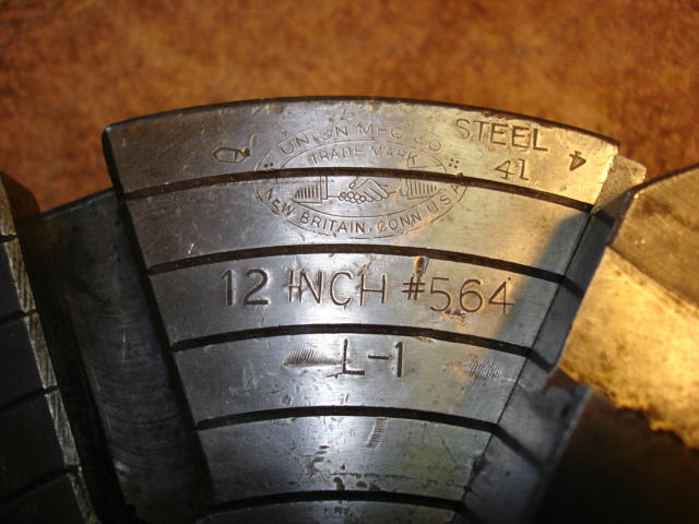 Union 4-Jaw Chuck, Machine ID: 5314