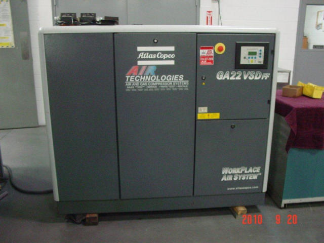 Atlas-Copco GA22 VSD FF 30 HP, Machine ID: 5321