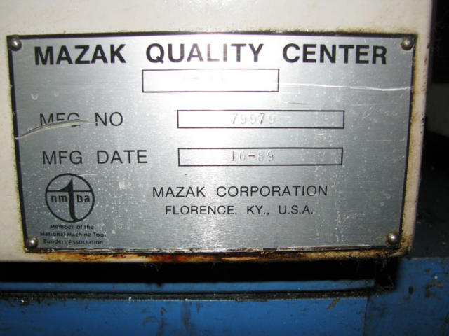 Mazak H-400, Machine ID: 5476