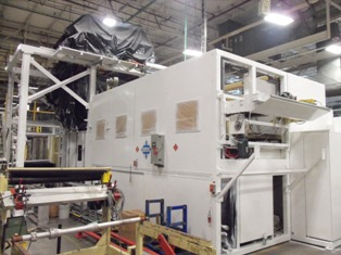 Machine 5598, Kiefel KS96/200ST Vacuum Forming Machine, 1998, Quartz Radiant Heat, Multiple Zone Controls, PLC Controlled