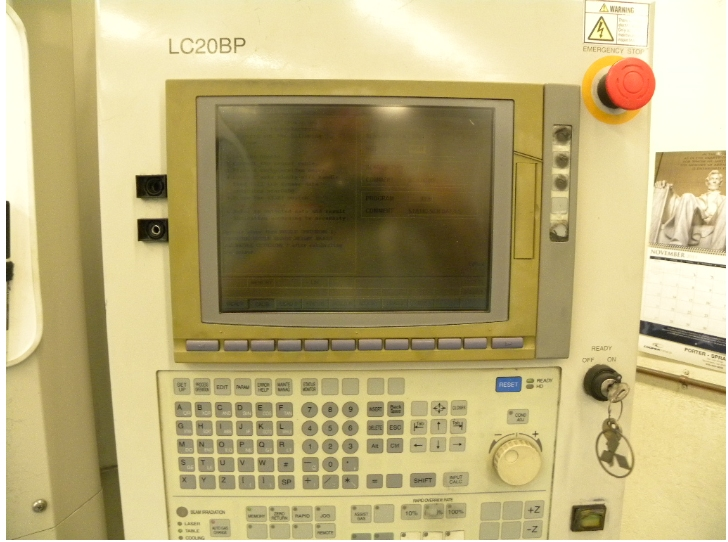 Mitsubishi 2512 LZ CO2, Machine ID: 5610