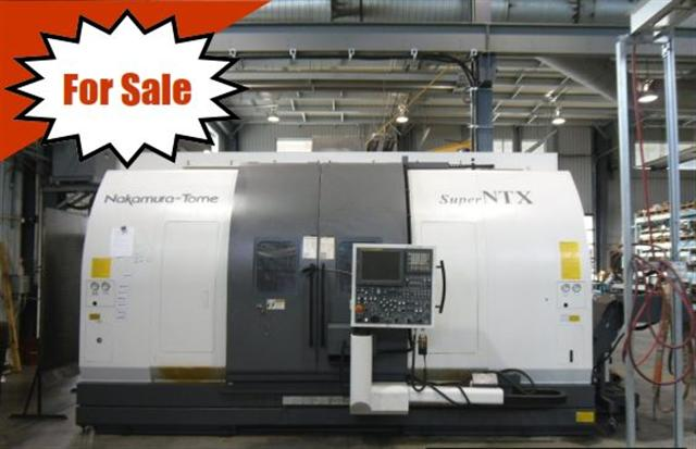 Machine 5765, Nakamura-Tome Super NTX, 2009, Twin Spindles, Live Tools, Y-Axis, ATC, 1280 hours