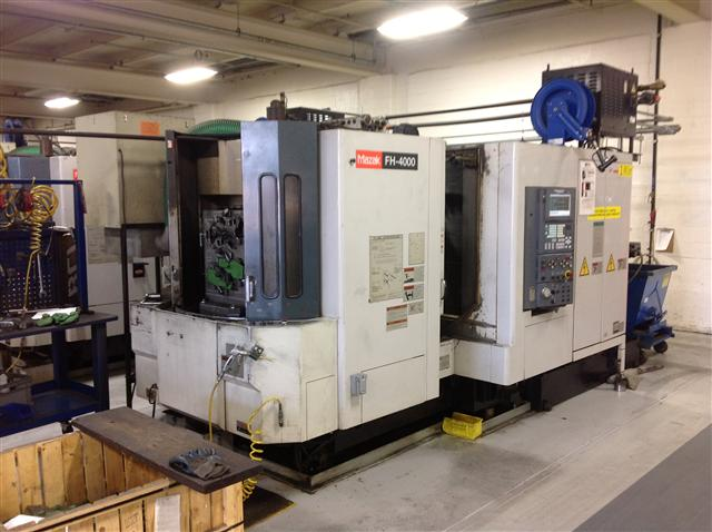 "Machine 5766, Mazak FH4000, 2001, 15.74"" pallets, 12,000 RPM, 40 ATC, 22"" x 20"" x 24"" travels, Thru spindle coolant, Fusion 640M Control"