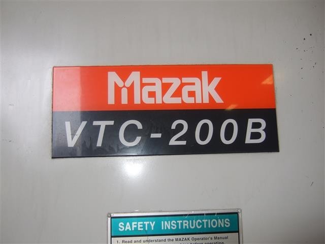Mazak VTC200B, Machine ID: 6355