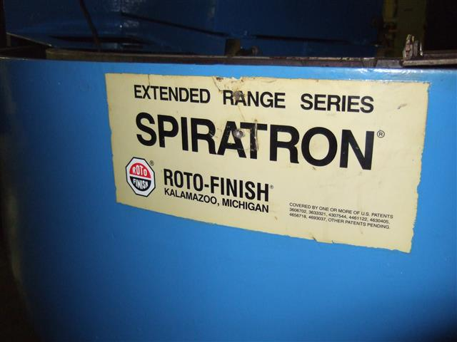 Roto-Finish Spiratron, Machine ID:6526