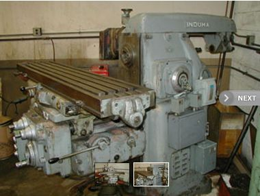 Induma Horizontal/Vertical Manual Mill, Machine ID:6530