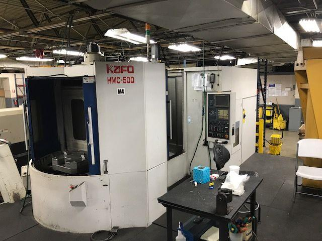 Machine 6593, Kafo HMC-500, 2005, CNC Horizontal Machining Center, 10K RPM, BT50, 40 ATC, 0.001 Degree