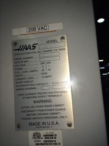 Haas TM-1 Toolroom Mill, Machine:6607, image:3