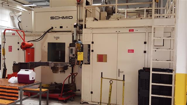 Machine 6615, Schmid T630 Orbital Cold Forming Press, 2002, 900 Short Tons Total Force
