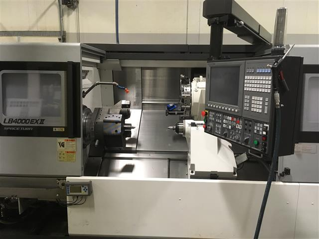 Machine 6624, Okuma LB 4000EX-II/1500 CNC Universal Lathe, OSP P300L, 2015, Like New Condition