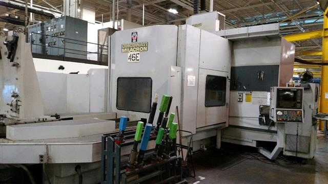 "Machine 6634, Cincinnati-Milacron T-40 CNC Horizontal Machining Center, 1989, Full 4th Axis, 90 ATC, 60"" x 60"" x 58"""