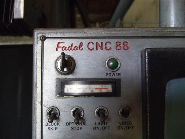 Fadal CNC Bridge Mill, Machine ID:6696