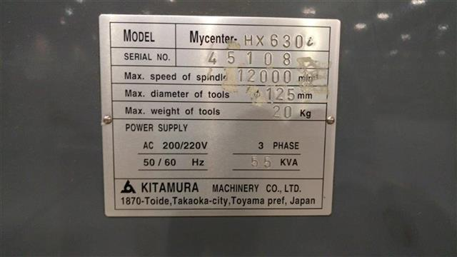 Kitamura HX630 image is available