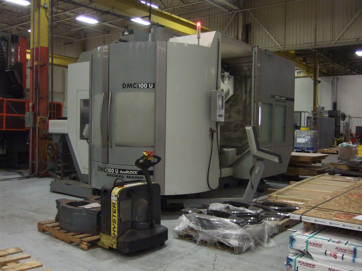 Machine 6741, Deckel-Maho DMC 100 U DuoBlock, 2005, Heidenhain Mill Plus IT V600, 1100 x 910 mm pallet, 10K RPM, 120 ATC