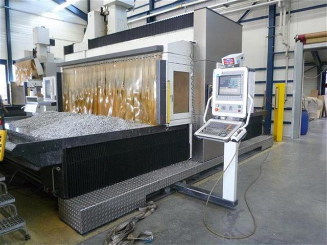 "Machine 6751, Edel 4030 5-Axis CNC Gantry Milling Machine, 2008, 157"" x 118"" x 45"", Heidenhain TNC i530, Through Spindle Coolant"