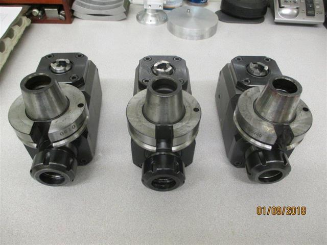 Hitachi-Seiki CA 23 X-Axis Live Tool Holders, Machine ID:6759