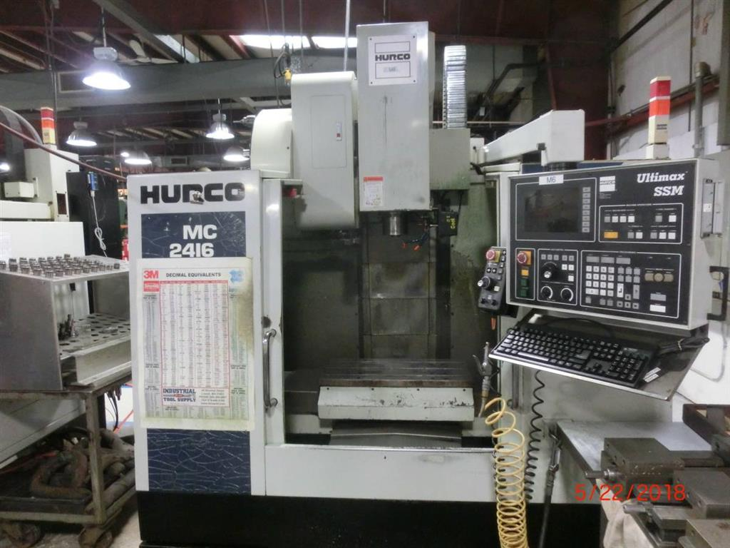 Hurco BMC 2416, 2000, MACHINING CENTERS, VERTICAL, CNC